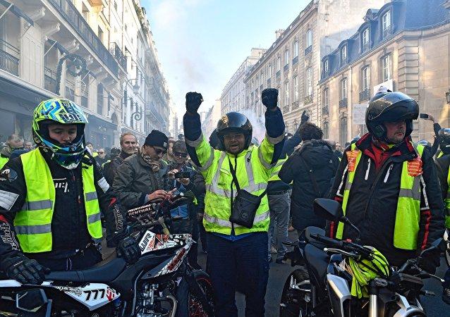 Las protestas de los chalecos amarillos en Francia (archivo)