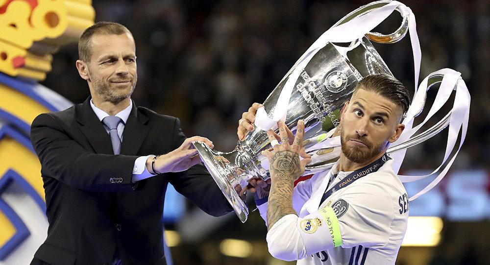 Sergio Ramos, futbolista español, después de la victoria del Real Madrid sobre la Juventus en la Liga de Campeones de 2017