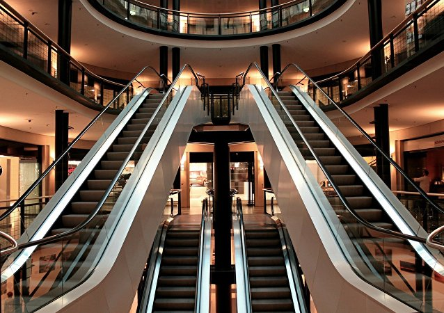 Escalera en un centro comercial