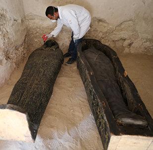 El sarcófago hallado en Luxor
