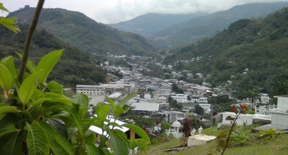 Vista panorámica de General Leonidas Plaza Gutiérrez, cabecera cantonal de Limón Indanza