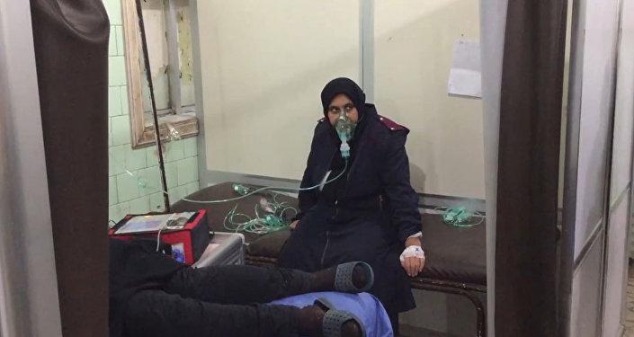 Secuelas del ataque químico perpetrado por los terroristas contra Alepo