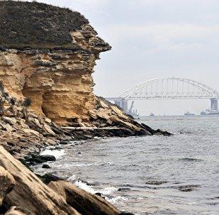 El estrecho de Kerch entre el mar de Azov y el mar Negro
