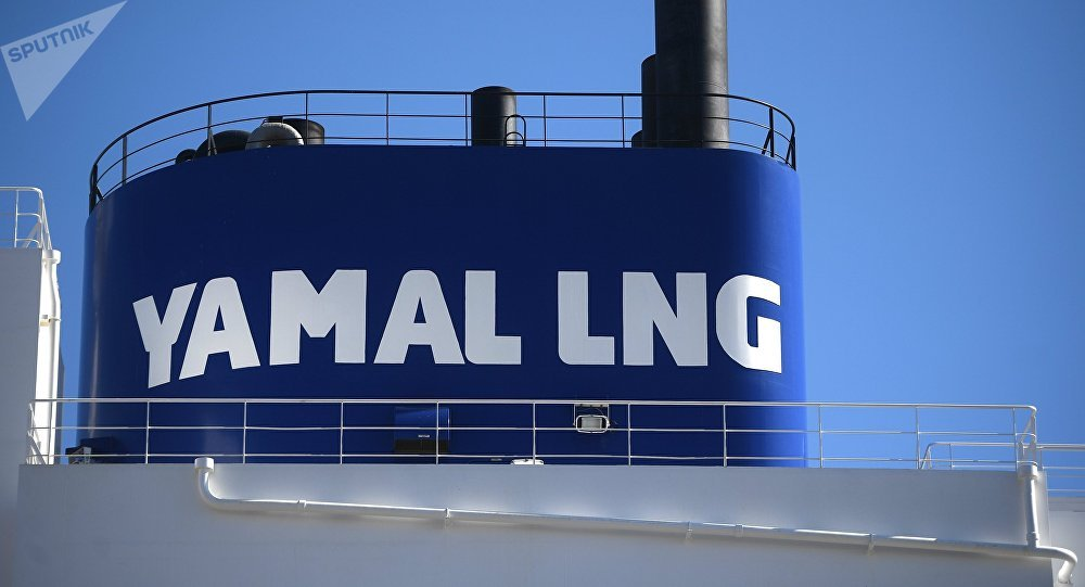 Buque de Yamal LNG con gas natural licuado ruso en China