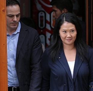 Mark Vito y su esposa, Keiko Fujimori