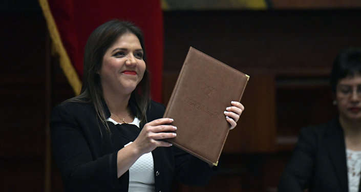 María Alejandra Vicuña, vicepresidenta de Ecuador