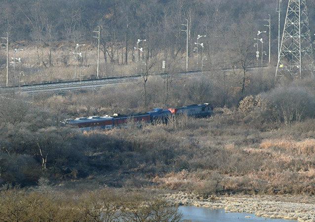 El tren de inspección de la red ferroviaria coreana