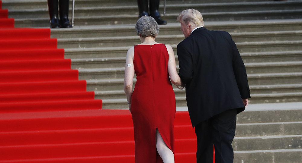 La primera ministra del Reino Unido, Theresa May y el presidente de EEUU, Donald Trump (archivo)