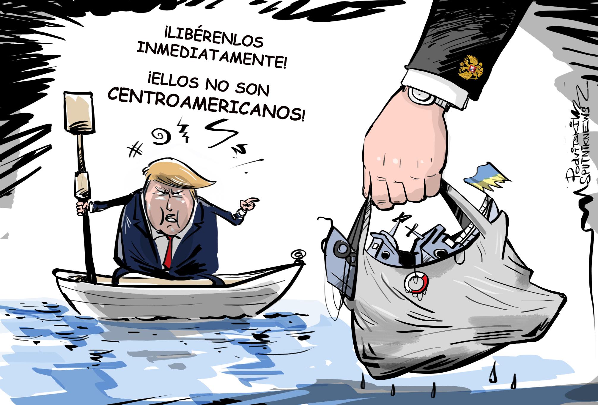 Trump, contra el cruce ilegal de fronteras... pero no las rusas