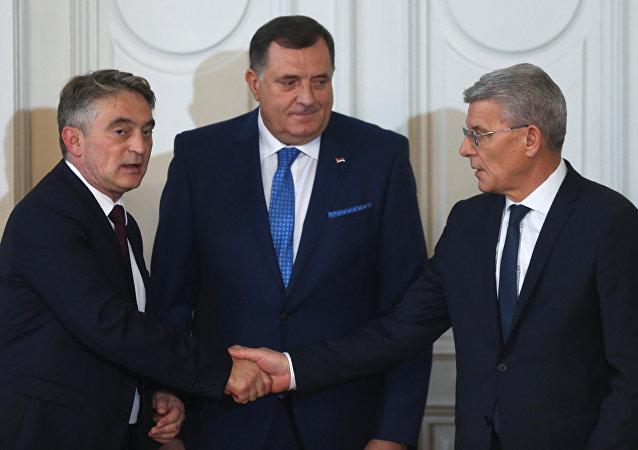 Los representantes de la Presidencia de Bosnia y Herzegovina