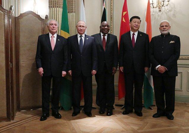 Presidentes de los países del grupo BRICS en Buenos Aires
