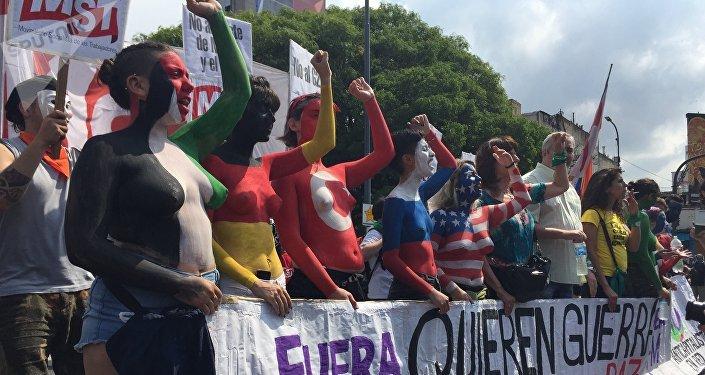 Imágenes de la marcha anti G20