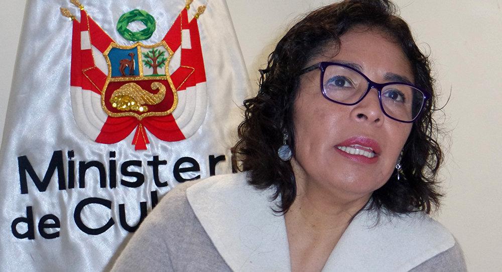 La ministra de Cultura de Perú, Patricia Balbuena