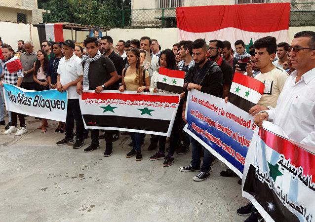 Estudiantes sirios en Cuba