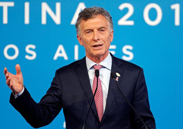 Mauricio Macri, presidente de Argentina, en rueda de prensa durante la cumbre del Grupo de los 20