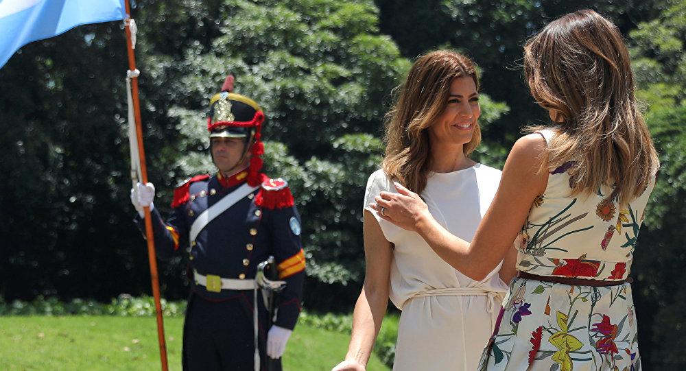 Juliana Awada y Melania Trump