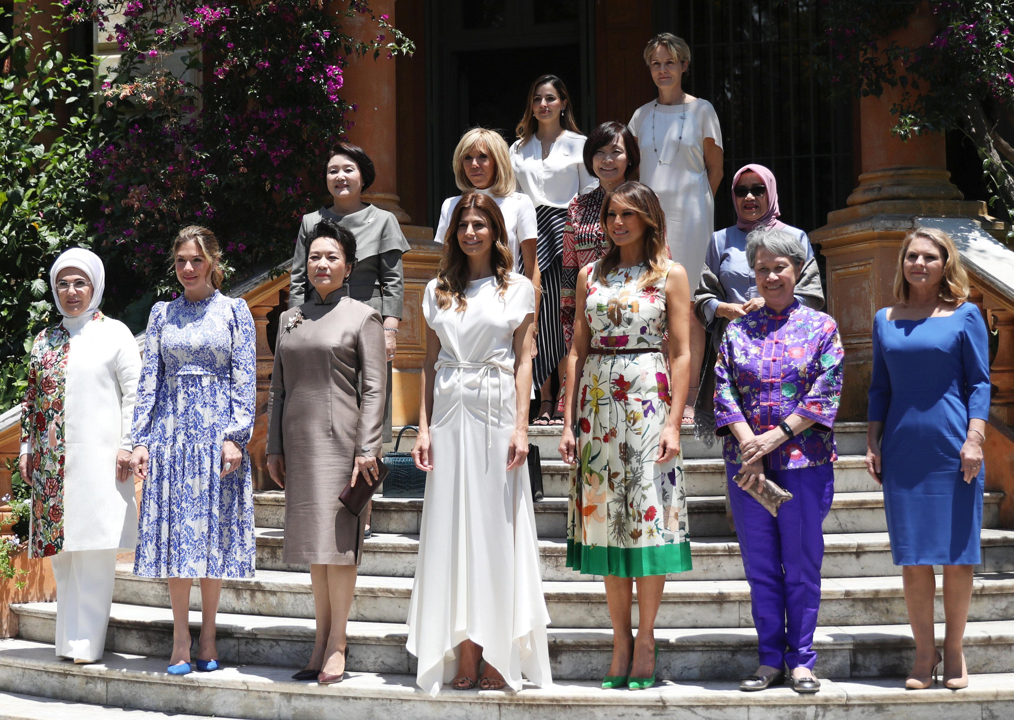 Las primeras damas de los países miembros del G20