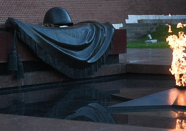 El memorial de la Tumba del Soldado Desconocido en Moscú
