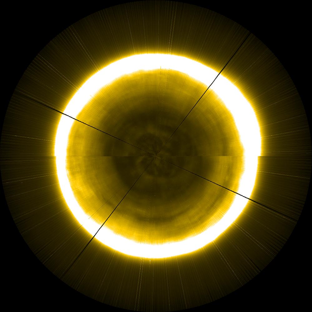 Imagen artificial del polo norte del Sol