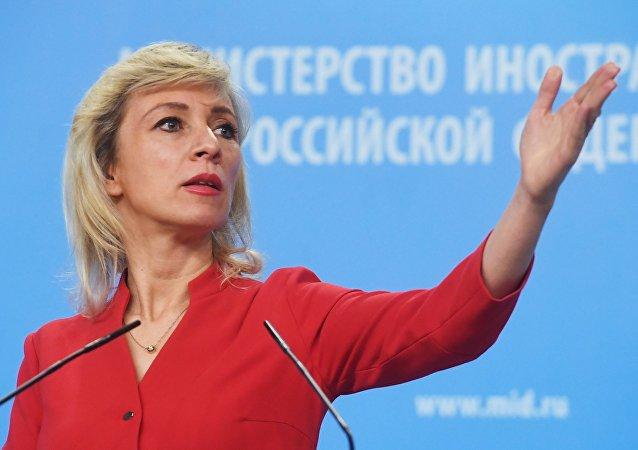 María Zajárova, la portavoz del Ministerio de Asuntos Exteriores ruso