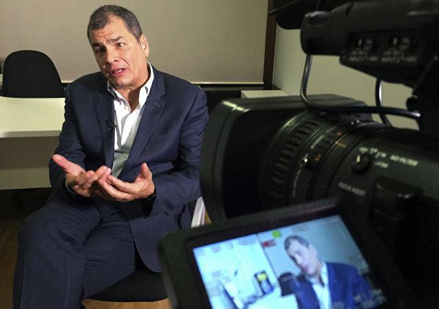 Rafael Correa, expresidente de Ecuador (archivo)