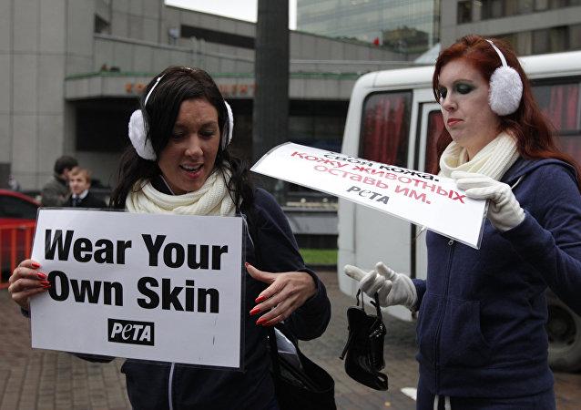 Activistas de PETA