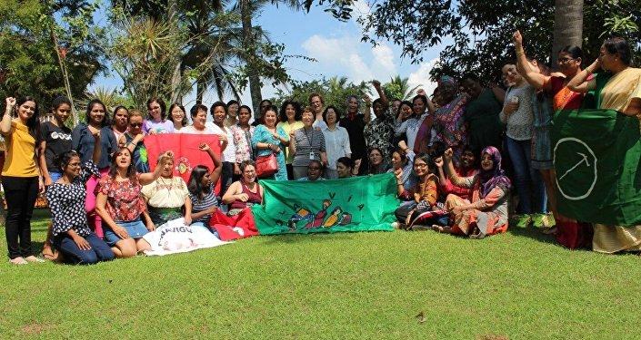 Encuentro Internacional de la Articulación de Mujeres Rurales de La Vía Campesina, en Sri Lanka, en noviembre de 2018