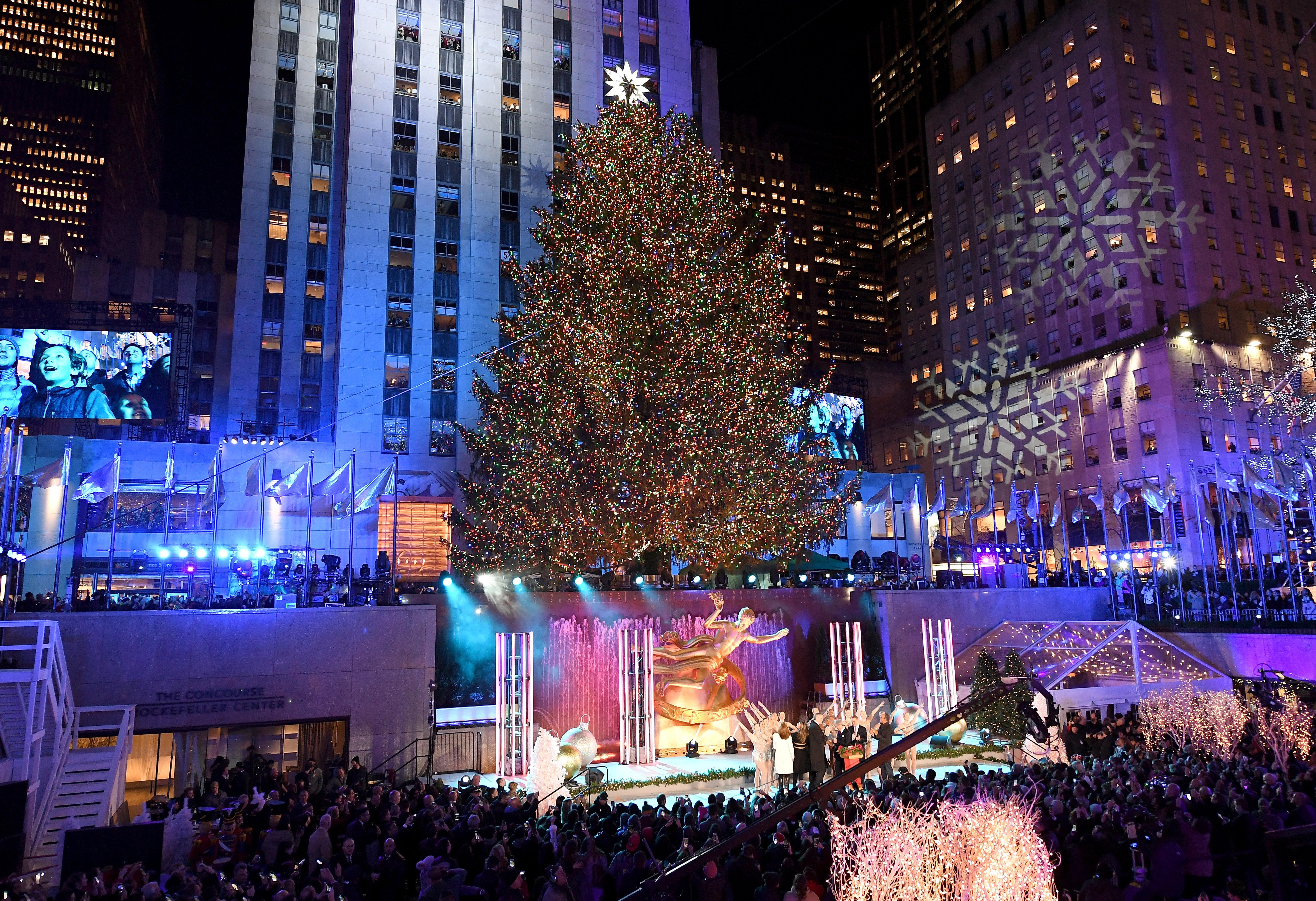 Árbol de Navidad del Rockefeller Center, en Nueva York