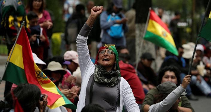 Protestas contra el presidente boliviano, Evo Morales, en Bolivia