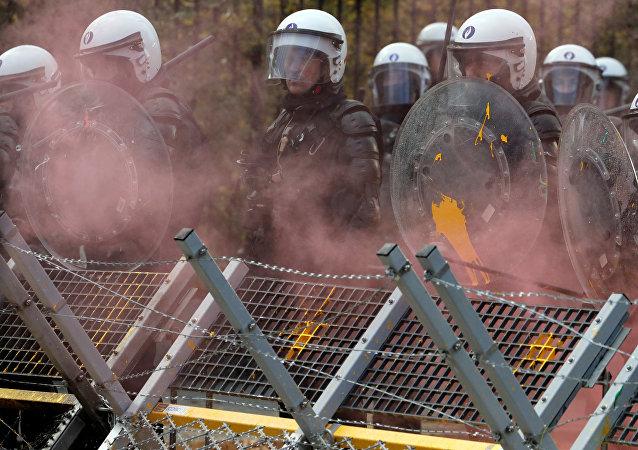 Protestas de 'chalecos amarillos' en Bruselas, Bélgica