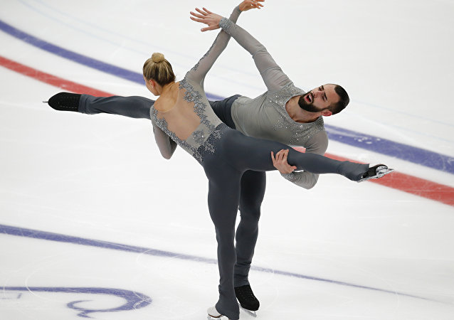Ashley Cain y Timothy Leduc en el patinaje en parejas
