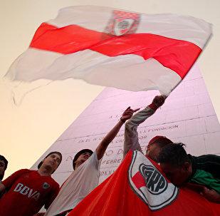 Los hinchas de River Plate en Buenos Aires