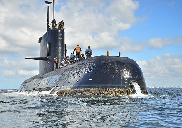 El submarino argentino ARA San Juan (archivo)