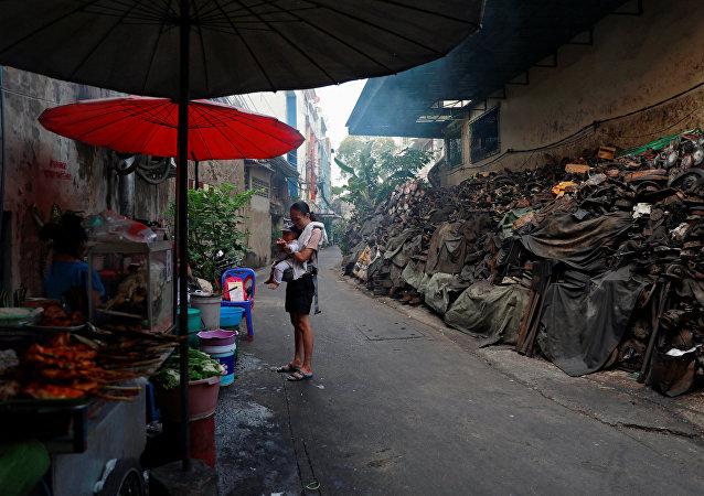Un barrio pobre en Tailandia (imagen referencial)