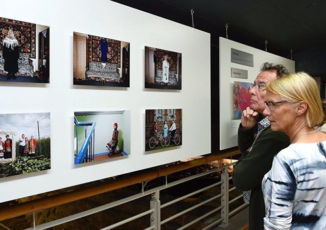 La exposición de obras ganadoras del Concurso Internacional de Fotoperiodismo Andréi Stenin (imagen referencial)