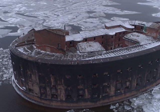 El fuerte ruso 'de la peste', filmado a vista de pájaro