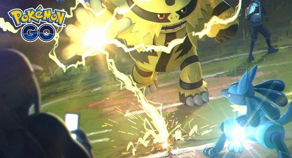 Un combate en Pokémon Go