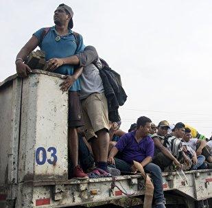 Los migrantes hondureños (imagen referencial)