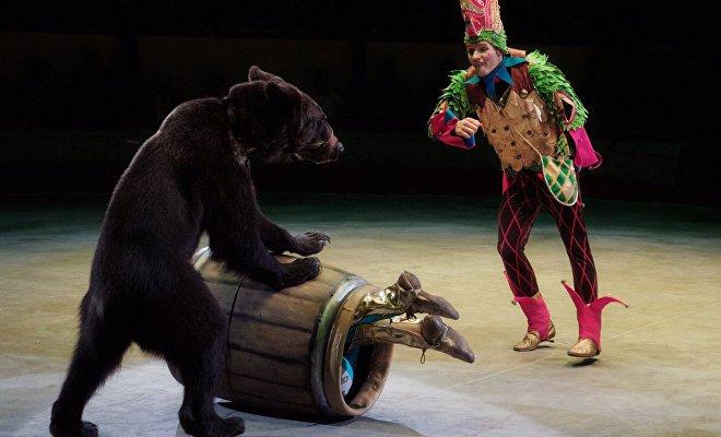 Escena del show de los hermanos Zapashni 'El mensajero', mostrado en San Petersburgo