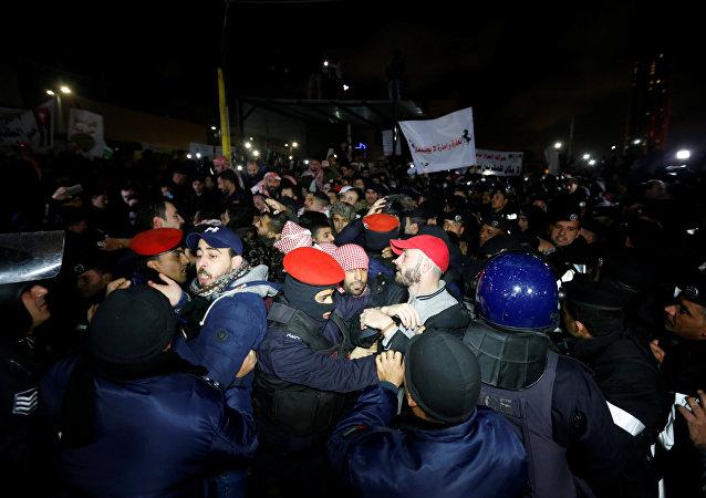 Manifestación en Amán, la capital de Jordania