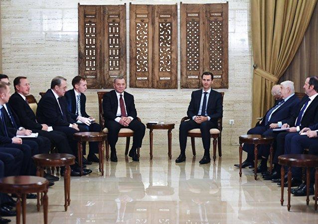 Reunión de la Comisión Intergubernamental de Rusia y Siria