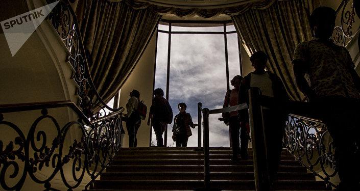 Escaleras de la Casa Miguel Alemán en Los Pinos