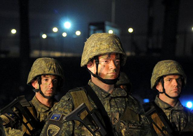 Los soldados kosovares