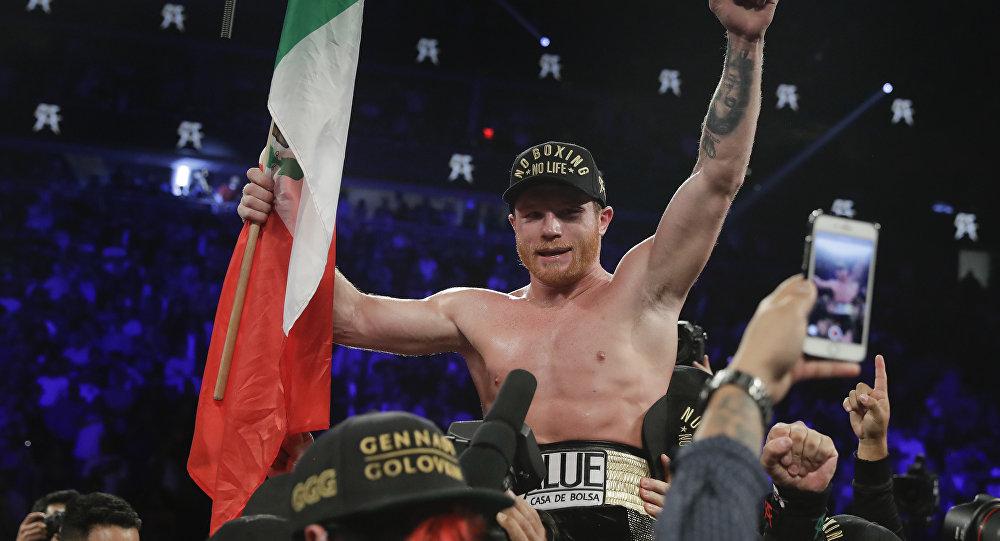 Resultado de imagen para El boxeador mexicano Saúl 'Canelo' Álvarez d