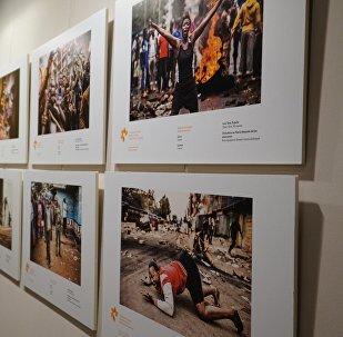 Una exposición de obras del concurso Andréi Stenin (archivo)