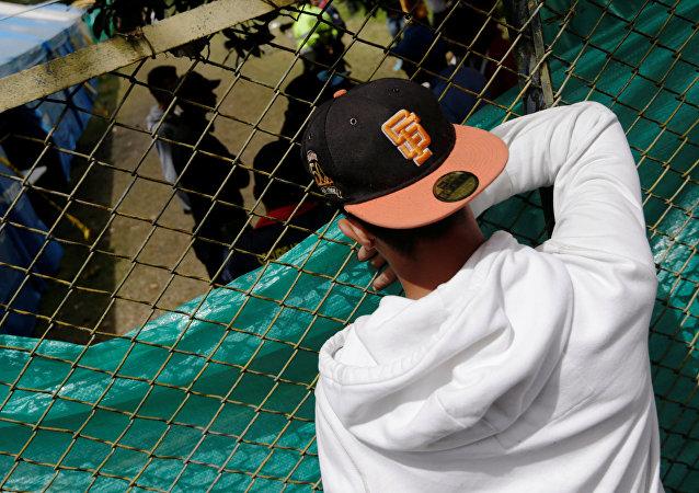 Un migrante venezolano en Colombia