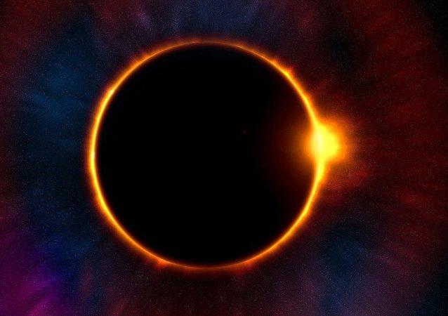 Planeta en el sistema solar, imagen referencial