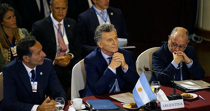 Mauricio Macri, presidente de Argentina, en la cumbre de Mercosur en Montevideo