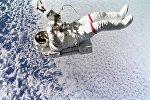 Un astronauta en el espacio, referencial