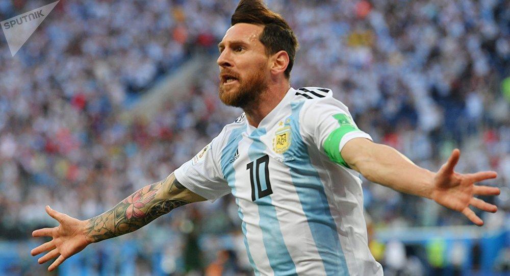 El jugador de fútbol Lionel Messi en Rusia 2018